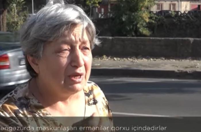 Zəngəzurda məskunlaşan ermənilər qorxu içindədirlər— VİDEO