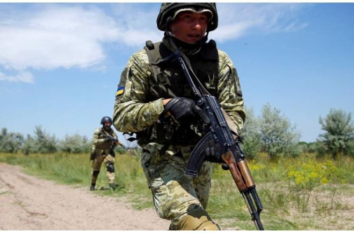 Ukrayna Rusiya ilə sərhəddə təlim keçdi