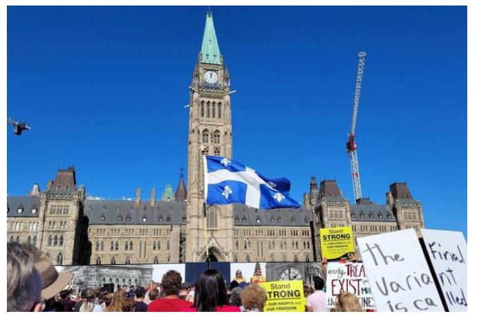 Kanadada COVID-19 məhdudiyyətlərinə qarşı etiraz aksiyası keçirilib — VİDEO