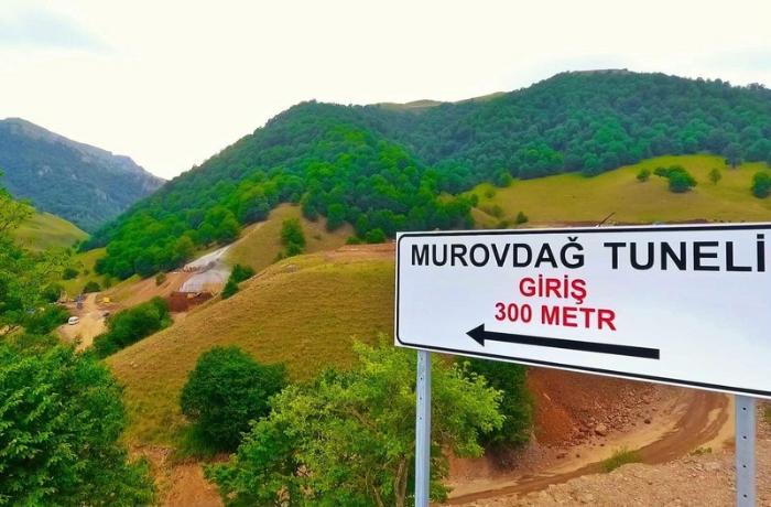 Murovdağ tunelinin 500 metrlik hissəsinin tikintisi yekunlaşmayıb