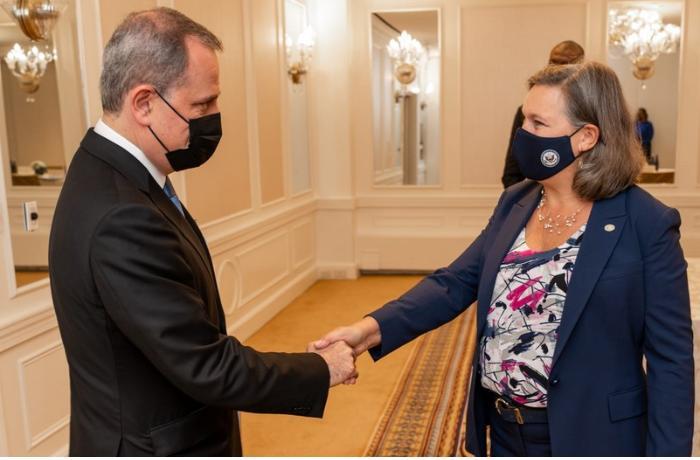 Azərbaycan XİN rəhbəri Viktoriya Nuland ilə görüşdü — FOTO