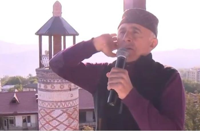 Alim Qasımov Şuşada azan oxudu — VİDEO