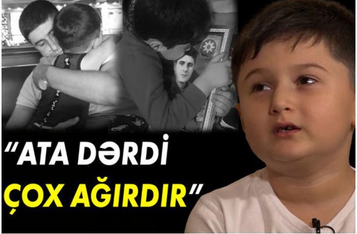 """Şəhid övladı: """"Bilirəm ki, atam məni görür, onun üçün də özümə söz verirəm ki, ağlamayacam"""" — VİDEO"""