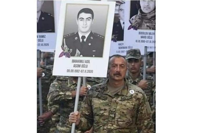 İlham Əliyevin əlində tutduğu plakatdakı şəkil kimindir? — VİDEO