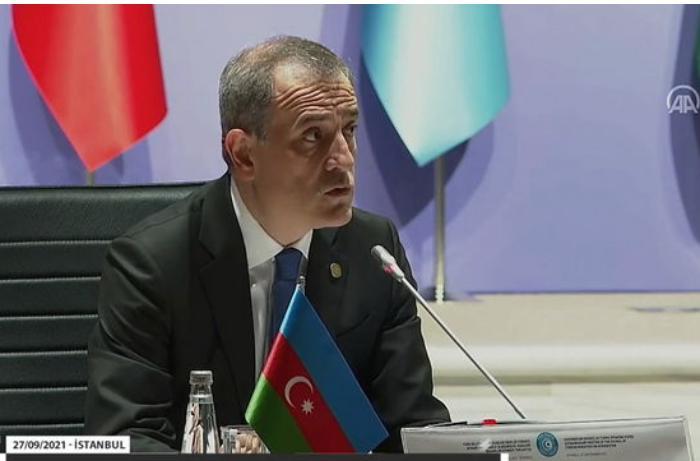 Ceyhun Bayramovun Türk Şurasının iclasındakı çıxışı — VİDEO